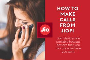 how to make calls from jiofi